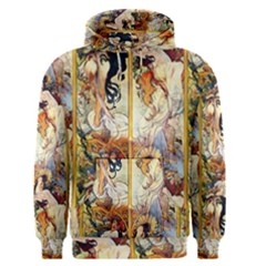 Alfons Mucha 1895 The Four Seasons Men s Pullover Hoodie