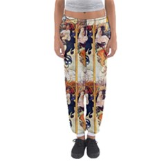 Alfons Mucha 1895 The Four Seasons Women s Jogger Sweatpants