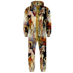 Alfons Mucha 1895 The Four Seasons Hooded Jumpsuit (Men)