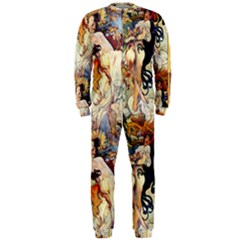 Alfons Mucha 1895 The Four Seasons OnePiece Jumpsuit (Men)
