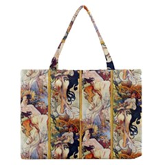 Alfons Mucha 1895 The Four Seasons Medium Zipper Tote Bag