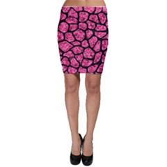 SKN1 BK-PK MARBLE Bodycon Skirt