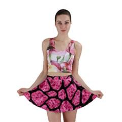 SKN1 BK-PK MARBLE Mini Skirt