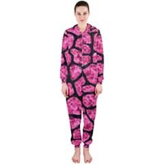 SKN1 BK-PK MARBLE Hooded Jumpsuit (Ladies)