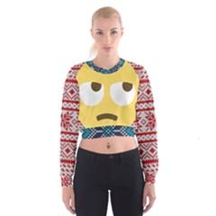 face Women s Cropped Sweatshirt