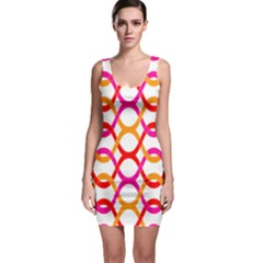 Background Abstract Sleeveless Bodycon Dress