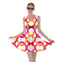 Background Abstract Skater Dress