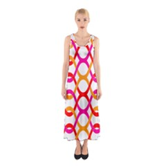 Background Abstract Sleeveless Maxi Dress