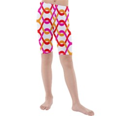 Background Abstract Kids  Mid Length Swim Shorts