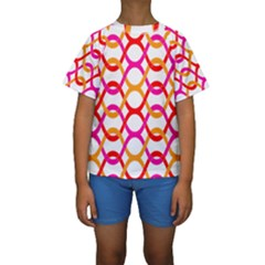 Background Abstract Kids  Short Sleeve Swimwear