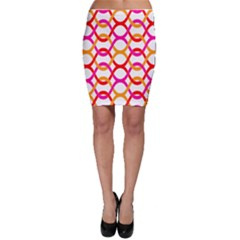 Background Abstract Bodycon Skirt