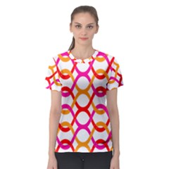 Background Abstract Women s Sport Mesh Tee