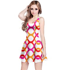 Background Abstract Reversible Sleeveless Dress