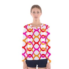 Background Abstract Women s Long Sleeve Tee