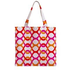 Background Abstract Zipper Grocery Tote Bag