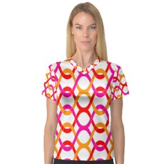 Background Abstract Women s V-Neck Sport Mesh Tee