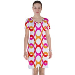 Background Abstract Short Sleeve Nightdress