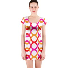 Background Abstract Short Sleeve Bodycon Dress