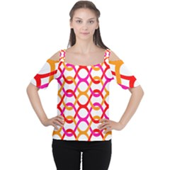 Background Abstract Women s Cutout Shoulder Tee