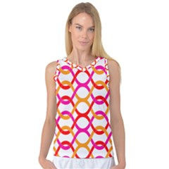 Background Abstract Women s Basketball Tank Top
