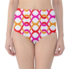 Background Abstract High-Waist Bikini Bottoms