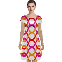 Background Abstract Cap Sleeve Nightdress