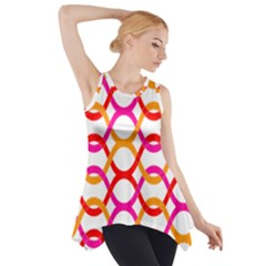 Background Abstract Side Drop Tank Tunic