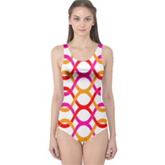 Background Abstract One Piece Swimsuit