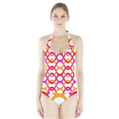 Background Abstract Halter Swimsuit