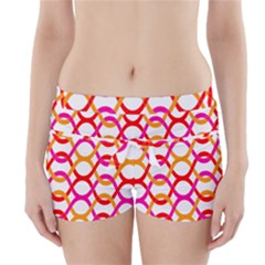 Background Abstract Boyleg Bikini Wrap Bottoms
