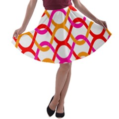 Background Abstract A-line Skater Skirt