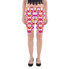Background Abstract Yoga Cropped Leggings