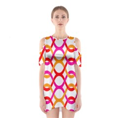 Background Abstract Cutout Shoulder Dress
