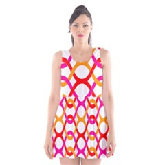 Background Abstract Scoop Neck Skater Dress
