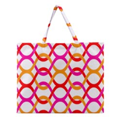Background Abstract Zipper Large Tote Bag