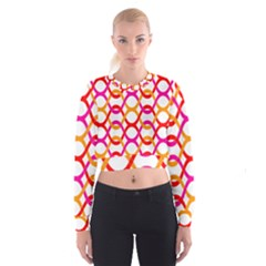 Background Abstract Women s Cropped Sweatshirt