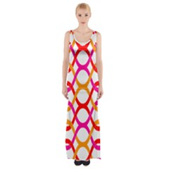 Background Abstract Maxi Thigh Split Dress