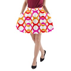 Background Abstract A-Line Pocket Skirt