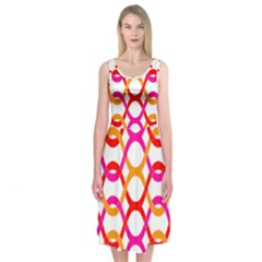Background Abstract Midi Sleeveless Dress