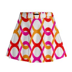 Background Abstract Mini Flare Skirt