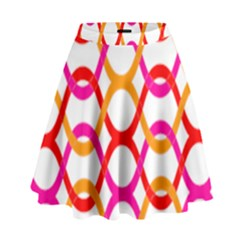 Background Abstract High Waist Skirt