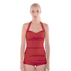 BIOGRAPHY Boyleg Halter Swimsuit