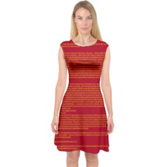 BIOGRAPHY Capsleeve Midi Dress