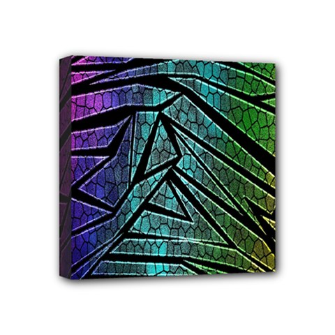 Abstract Background Rainbow Metal Mini Canvas 4  x 4