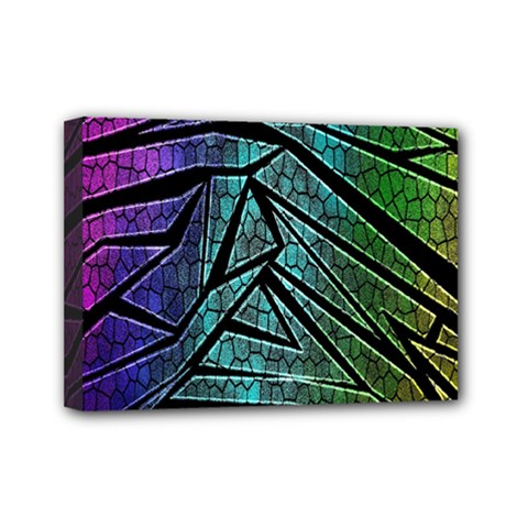 Abstract Background Rainbow Metal Mini Canvas 7  x 5