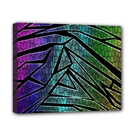 Abstract Background Rainbow Metal Canvas 10  x 8