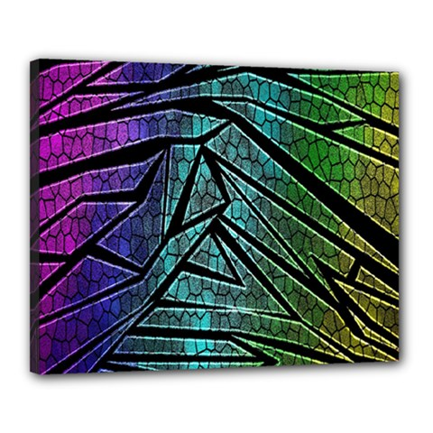 Abstract Background Rainbow Metal Canvas 20  x 16