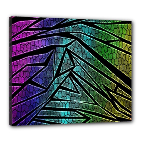Abstract Background Rainbow Metal Canvas 24  x 20