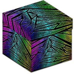 Abstract Background Rainbow Metal Storage Stool 12