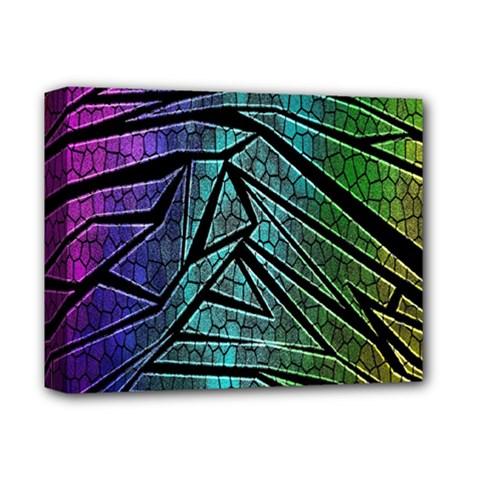 Abstract Background Rainbow Metal Deluxe Canvas 14  x 11